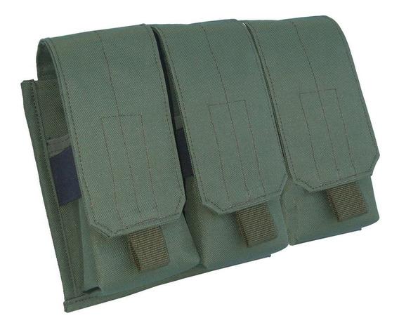 Portacargador Triple Para 3 Cargadores Molle - M4 M5 M16 Fal