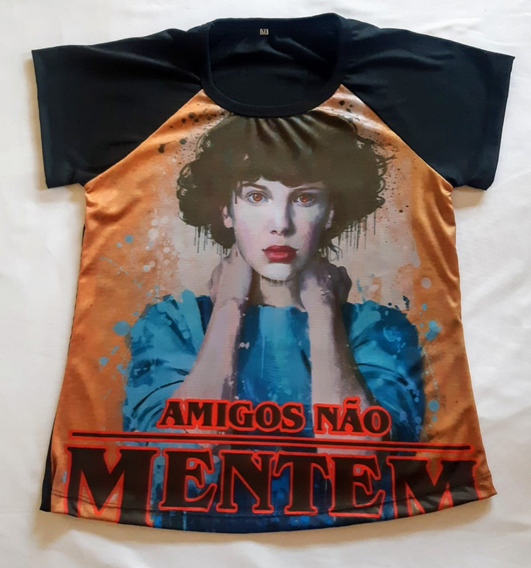Camisetas Feminina Raglan Amigos Não Mentem.