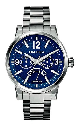 Relógio Nautica Masculino Aço, Modelo A19550g Semi-novo