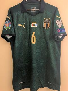 Camisa Da Itália Eliminatórias Euro 2002 Com Match Date