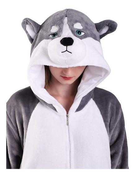 Pijama Kigurumi Husky Lobo Cosplay Disfraz Envío Gratis