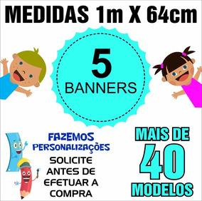 Banner Didático Pedagógico 1m X 64cm - 5 Unids - Cód: Ywz05