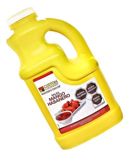 Salsa Alitas Mango Habanero Zafran 4.3 Kilos Pack 4pzs