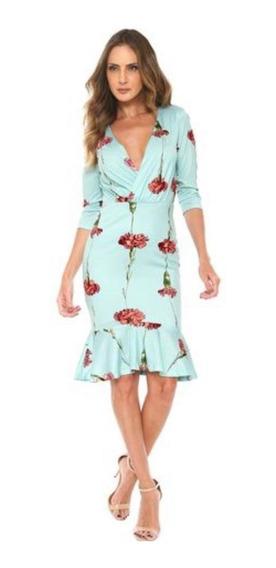 Vestido Midi Lança Perfume Floral Estampado