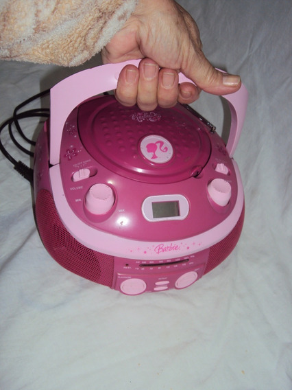 Rádio Rosa Da Barbie Brb 020 Funcionando Am, Fm E Cd