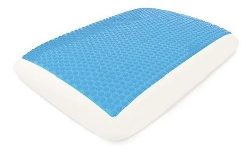 Almohada Cervical Ortopedica Con Gel Maximo Confort Blue