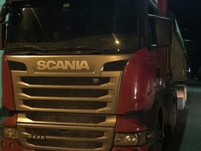 Scania R440 Streamline Ano 2015 Bordo Com Bi-caçamba Randon