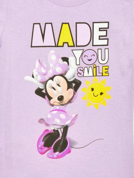 Playera Para Niña Minnie Disney 100% Algodón