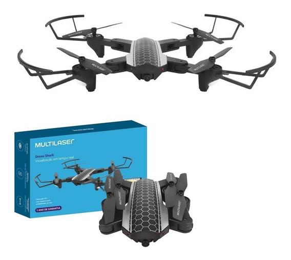 Drone Shark Câmera Hd C/ Controle Remoto Alcance Es177 Multi