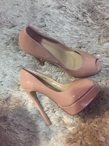 Sapato Peep Toe Nude