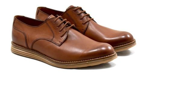 Zapato De Cuero Bordeaux Leather Comfort Marrón