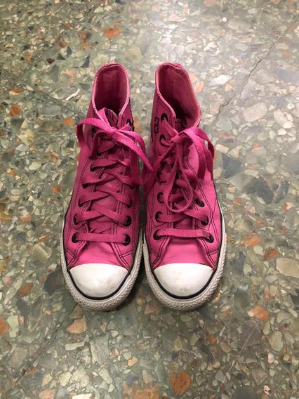 Zapatillas All Star Converse Cuero Fucsia