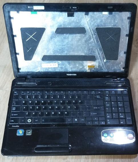 Notebook Toshiba L655 Completo, Defeito Na Placa-mãe, Com: Teclado, Cooler, Com Todas As Peças Internas