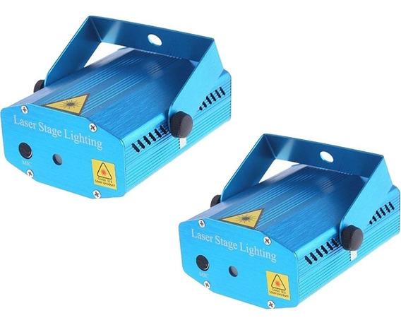 Kit 2 Mini Projetor Holográfico Laser Iluminação Festa Dj