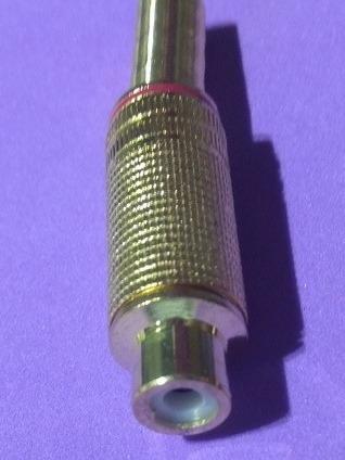 Kit Com 10 Plug Jack Rca Fêmea Gold 6mm Vermelho