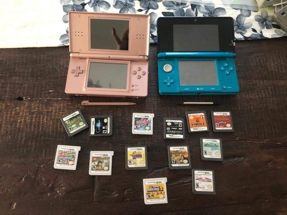 Kit Nintendo 3ds E Ds Lite Com Jogos