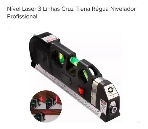 Nivel Laser Profissional 3 Linhas Cruz Com Trena