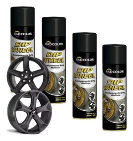 Tinta Spray Dip Weel Envelopamento Liquido Radnaq 500ml 4 Un