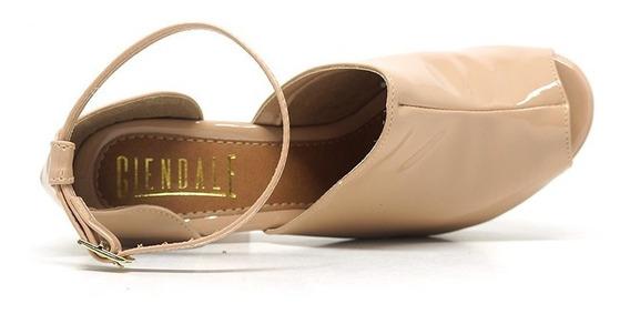 Sandálias Salto Meia Pata Glendale Cores Nude/bege E Preta