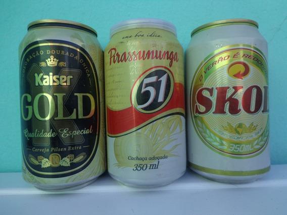 2 Latas Cerveza Y 1 De Cachaça De Coleccion Llenas De Brasil