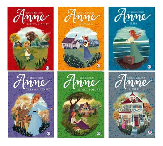 Combo Série Anne De Green Gables Com 6 Primeiros Livros