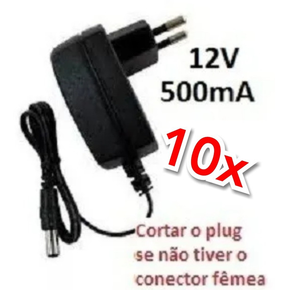 Kit 10x Fonte Dc12v 500ma