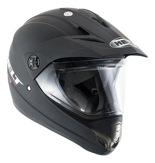 Capacete para moto cross Helt Cross Cross Vision Preto Fosco tamanho 62