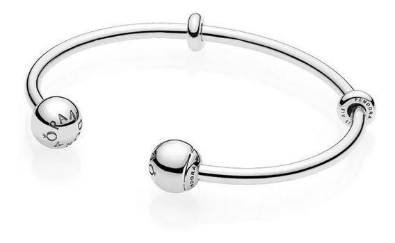 Bracelete Evolution Ponteira Lisa Prata 925 Est Pandora