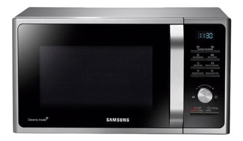 Imagen 1 de 4 de Microondas Grill Samsung Mg23 Silver Gtia Oficial Cuotas!