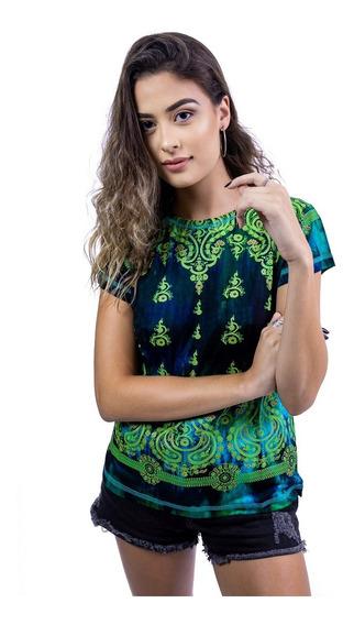 Camiseta Baby Look Indiana Tie Dye De Viscose