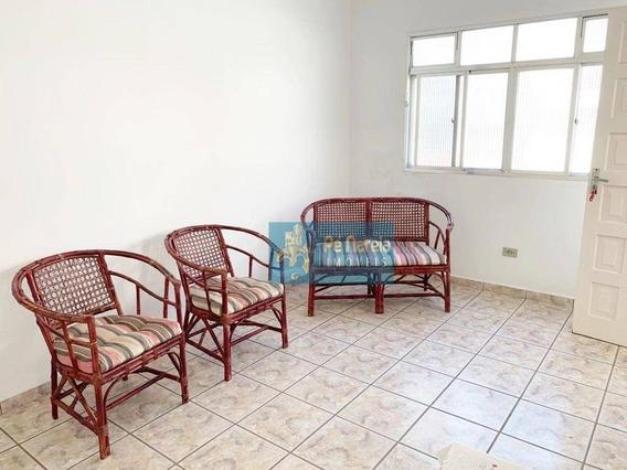 Apartamento Com 2 Dormitórios Para Alugar, 75 M² Por R$ 1.300/mês - Canto Do Forte - Praia Grande/sp - Ap0402