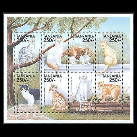 1999 Felinos - Gatos- Tanzania Mnh