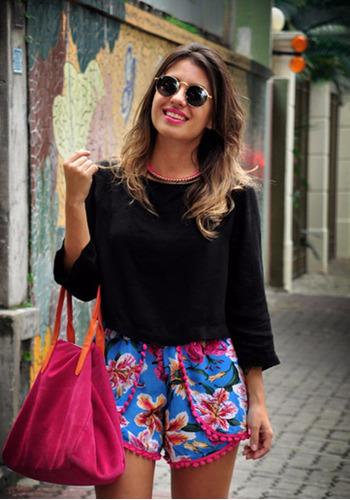 8fcf8ae62ec5 Short Pompom - Short Jean para Feminino com o Melhores Preços no ...