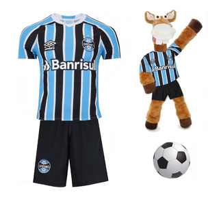 Camisa E Shorts Infantil Gremio + Cavalinho + Bola