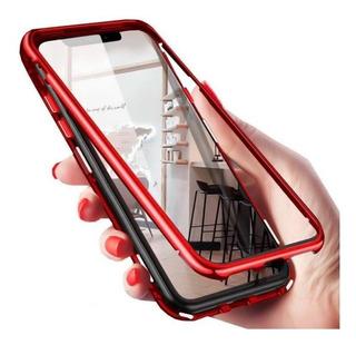 Capa Capinha Case iPhone Magnética 180º Vermelho