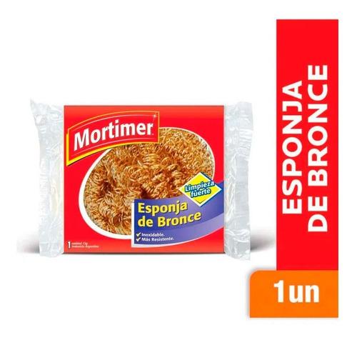 Esponja De Bronce Inoxidable Mortimer Limpieza Fuerte X 1 Un