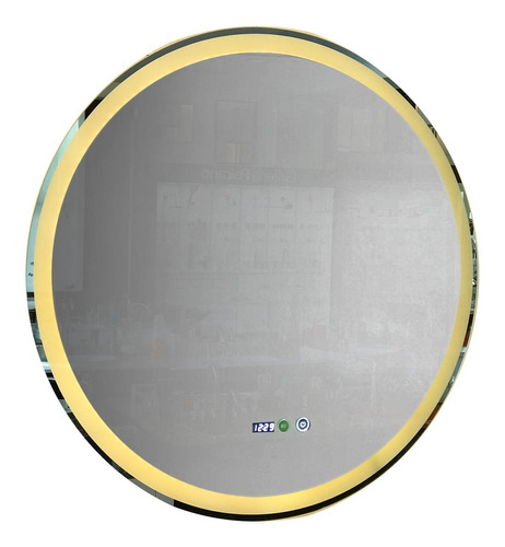 Espejo Baño Luz Led Redondo 80 Cm Bluetooth Desempañador