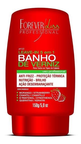 Leave In Banho De Verniz Morango 150g Forever Liss