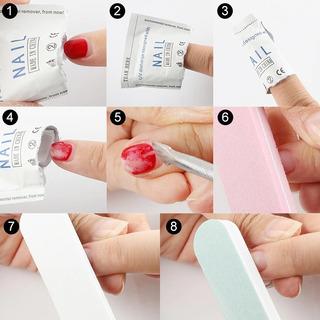 Toallas Removedoras De Gelish Gel Uv Cualquier Tipo De Gel Instantaneas Facil De Usar Higienicas Remueve Rapido 10 Pieza
