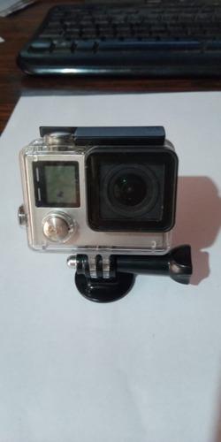 Gopro Hero 4 Silver- 4k Action Camera Com 4 Baterias + Itens