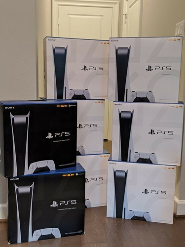 Playstation 5 Disc, 2 Controllers, 2 3d Headset + Spiderman