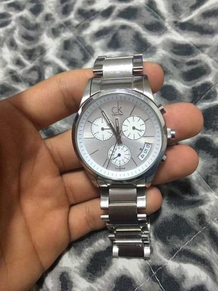 Relógio Calvin Klein Prata Original