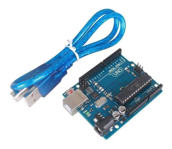 Arduino Uno R3 Original + Cable Usb / Chip Desmontable Atmel