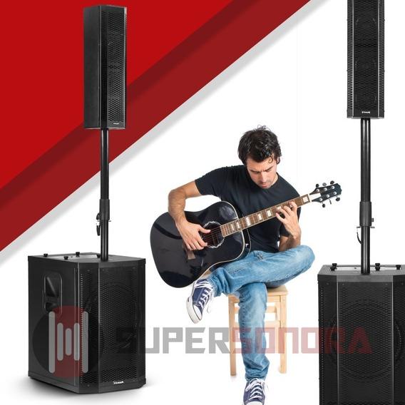 Sistema Som 2x Torre Amp Pa Ativo 1000wrms Grt12 - Frahm