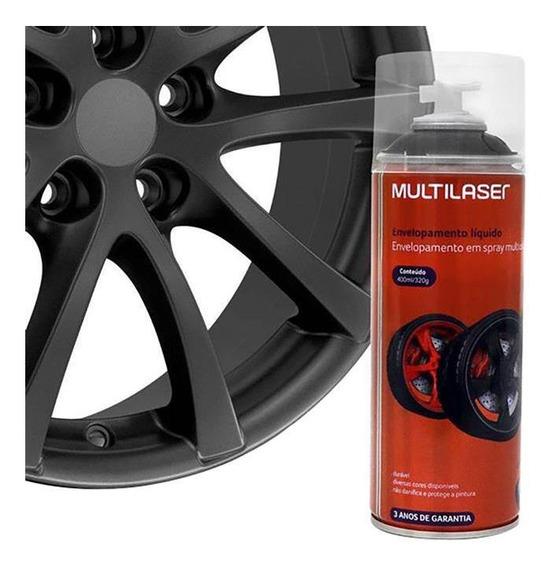 Spray Envelopamento Multilaser Au429 Líquido 400ml Grafite