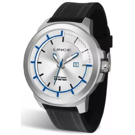 Relógio Masculino Lince Mrph054s S1px Prata/preto