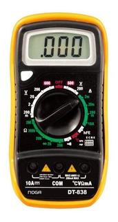 Tester Digital Multimetro Buzzer Temperatura Hold Noga Dt838