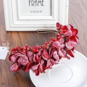 Coroa D Flores Tiara Casamento Arranjo Grinalda Várias Cores