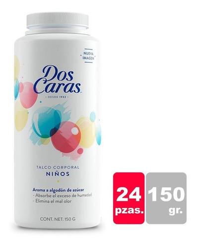 Caja Talco Dos Caras Niños 150g / 24pzas