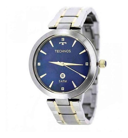 Relógio Technos Feminino Bicolor Prata Rosê Gl10if/5a + Nf